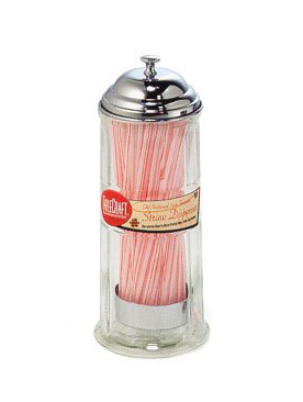 vintage straw dispenser