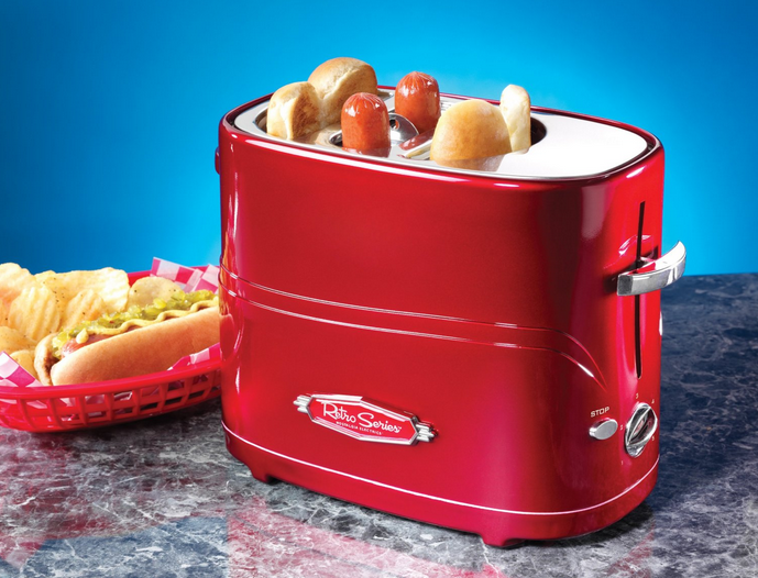 vintage hot dog toaster