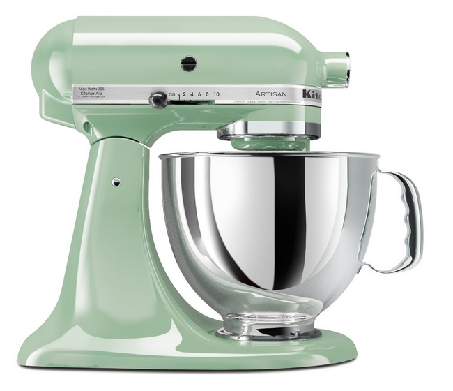 kitchenaid vintage shabby kitchen mixer pistachio