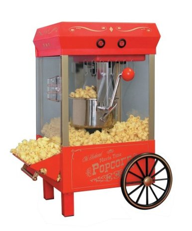 vintage popcorn maker retro machine