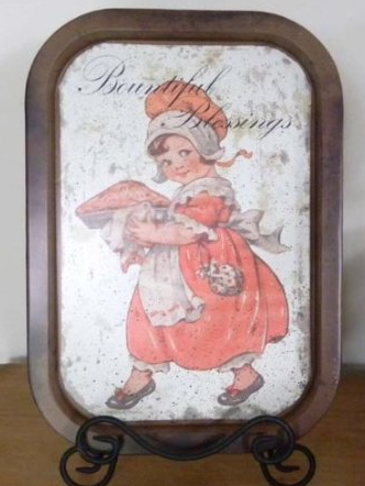 vintage serving tray shabby chic