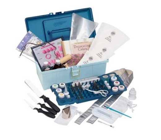 wilton 101 piece cake decorating set with storage caddy